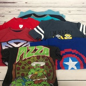 Other - Bundle of Boys Character Print Tees Size Small